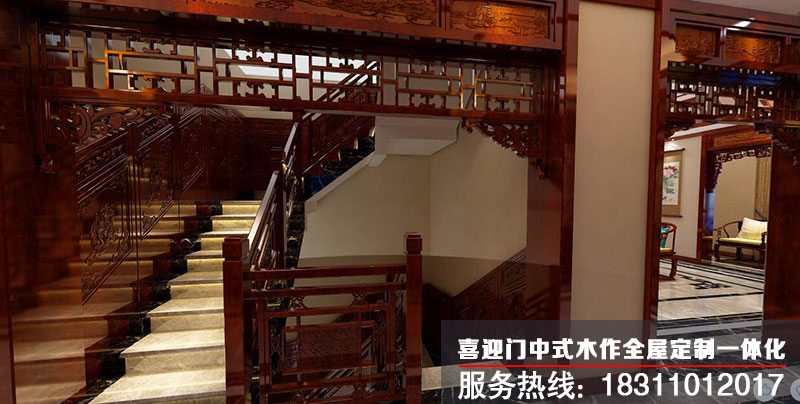 别墅楼梯口设计效果图